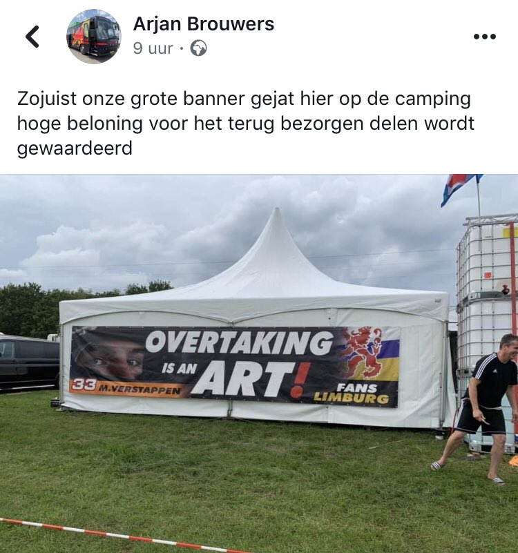 Blijf aub van andermans spullen af! 😖🤯  Deze groter banner is gestolen..  Deel aub dit bericht zodat wij met ze allen snel de dader weten te vinden!  #MaxVerstappen #F1 #BelgianGP #BelgiumGP #BelgianGrandPrix #MightyMax