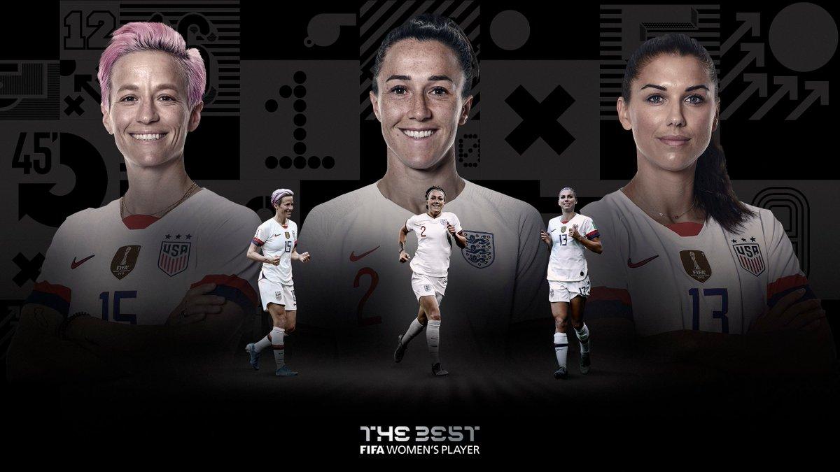 🚨#TheBest Women's Player Finalists 🚨🏴@LucyBronze 🇺🇸@alexmorgan13 🇺🇸@mPinoe