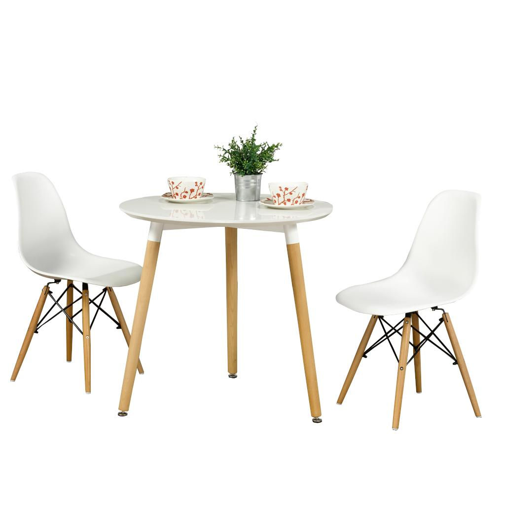 Miraculous Ruth 3 Piece Dining Set White Table And White Chair With Bralicious Painted Fabric Chair Ideas Braliciousco