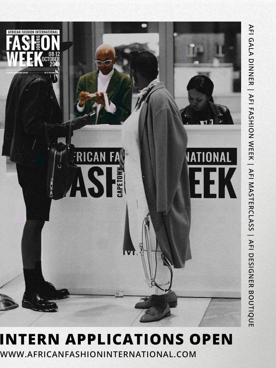 African Fashion International On Twitter Internship Afi Joburg Fashion Week Is Giving An Internship Opportunity To Unemployed Graduates In Pr Marketing Production And Guest Relations Apply By Emailing Your Cv And Motivation