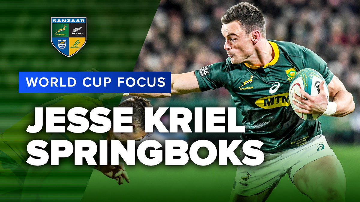 WORLD CUP FOCUS | Jesse Kriel, Springboks @springboks Jesse Kriels first try against the All Blacks was an absolute ripper. Can he add to it when they meet in their first World Cup match? #RWC2019