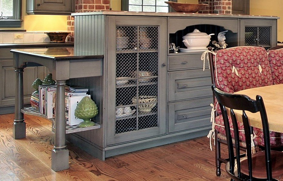 """Van Dyke's Restorers on Twitter: """"Give you cabinets a fresh look with  decorative wire mesh grilles in an assortment of styles and finishes. # cabinets #wiregrilles #wiremesh #wirecrimp #homedecor #homeaccents  #homeaccesssories #VanDykes #kitchen #"""