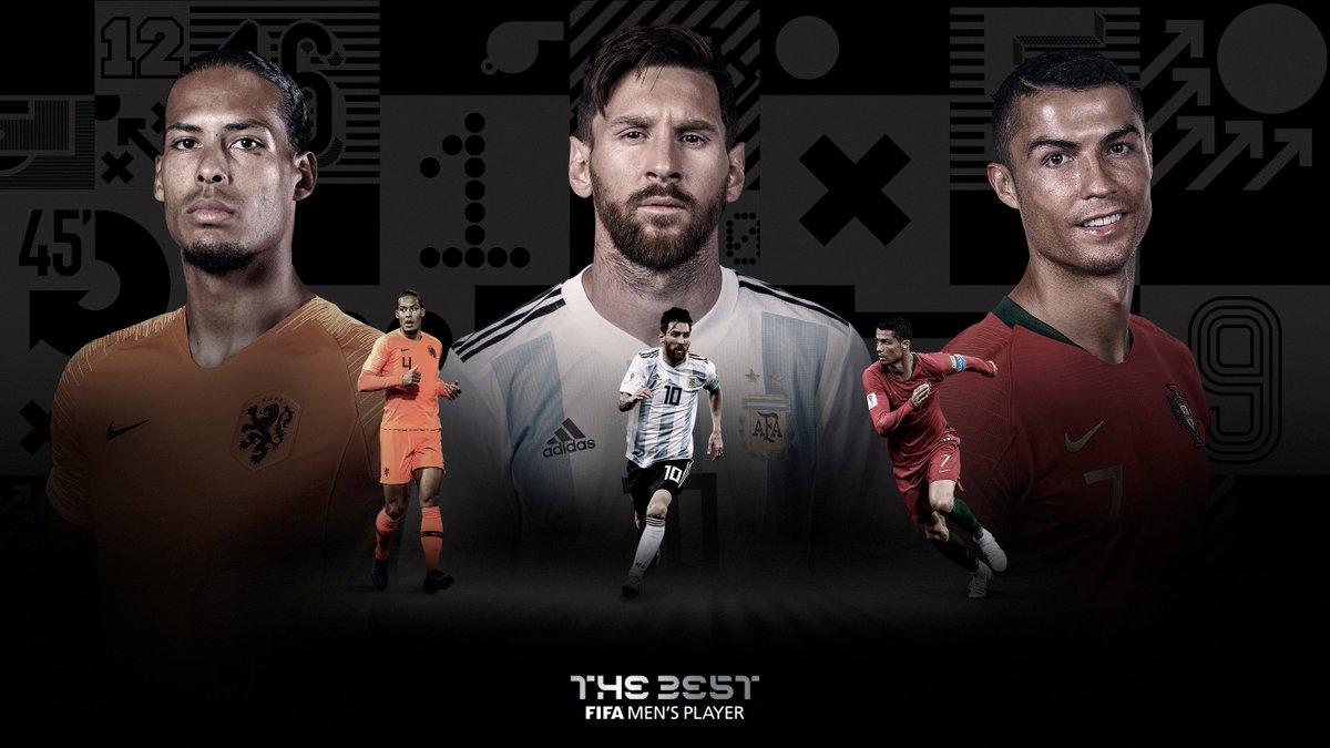 Virgil van Dijk, Lionel Messi et Cristiano Ronaldo
