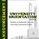 Image for the Tweet beginning: LOOK: Orientation of CMU Senior