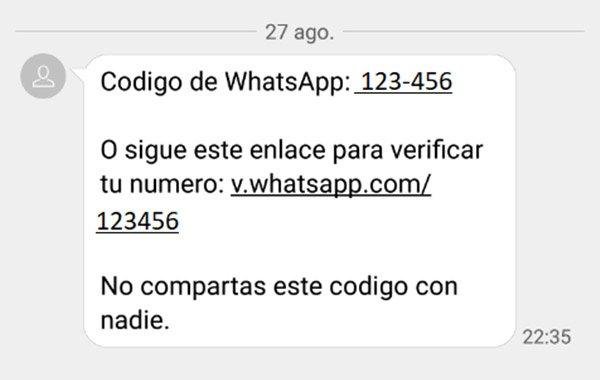 timo whatsapp codigo verificacion