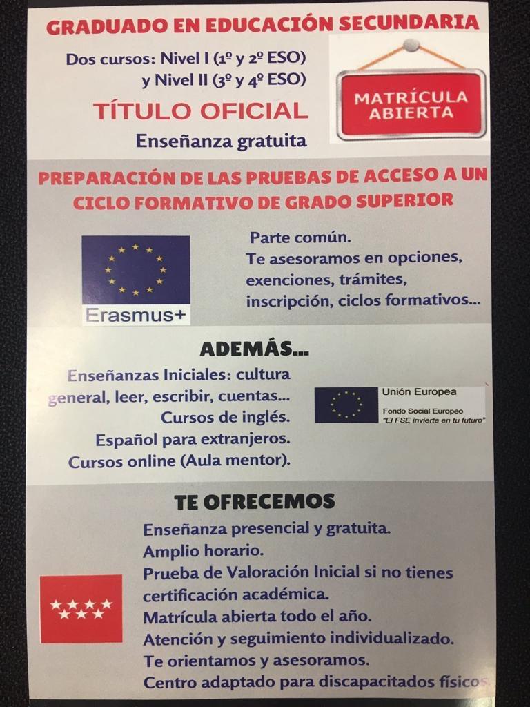Cepa Orcasitas Centro Erasmus On Twitter Abierto El