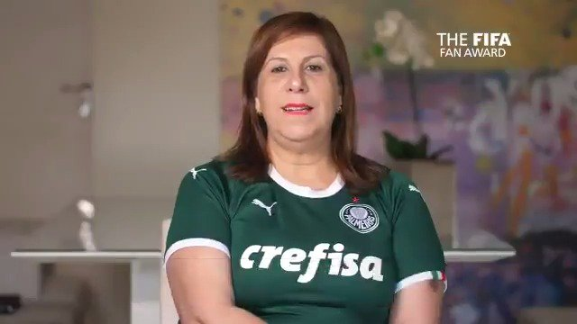 🏆 @pringrecco narrating @Palmeiras matches for her son, who is blind & autistic, deservedly won her the FIFA Fan Award in 2019  🗳️ With voting for the 2020 edition opening tomorrow, the moving story of Silvia & Nickollas is well worth a watch  #TheBest #FIFAFootballAwards