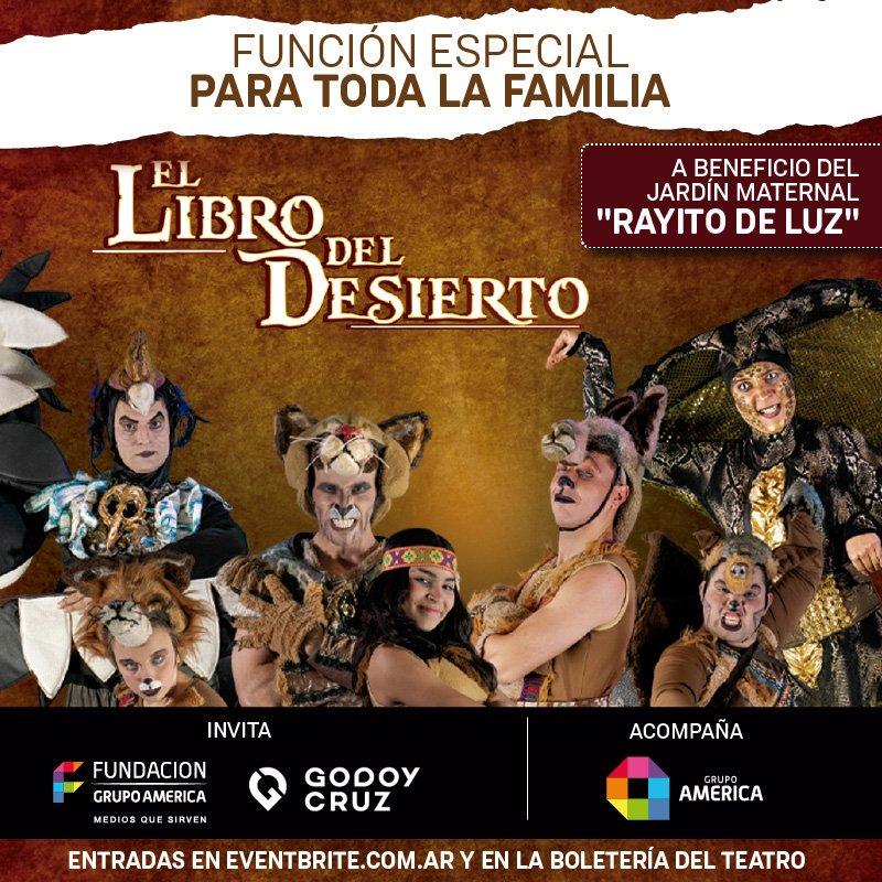 ¡Vuelve El Libro del Desierto! 🦁🐻 11 de septiembre a las 16.30Hs en el Cine Teatro Plaza, a beneficio del 👉 jardín maternal Rayito de Luz  ✅ Comprá tus entradas en https://t.co/Q3SIrhiAvN y en la boletería del teatro  #FundaciónGrupoAmérica #Brava https://t.co/NJ9gQcg5TX