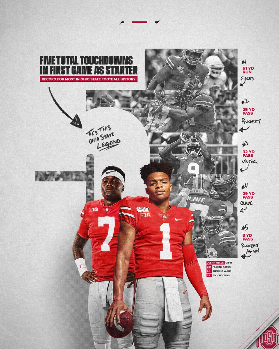 Dwayne Haskins Sends Message To Justin Fields After Ohio State Debut