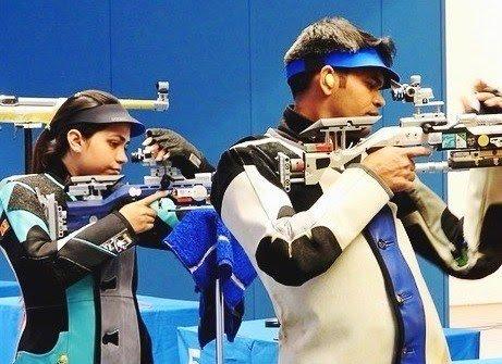 """India_AllSports on Twitter: """"News Flash: Shooting World Cup: Apurvi Chandela/Deepak Kumar win GOLD medal & Anjum Moudgil/Divyansh Panwar win Bronze medal in 10m Air Rifle Mixed Team event.… https://t.co/7ZtfxV5f81"""""""