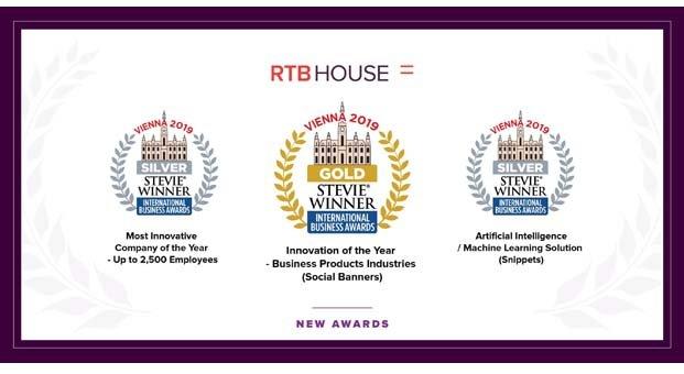 RTB House, Altın ve GümüşStevie Ödüllerine layık görüldü