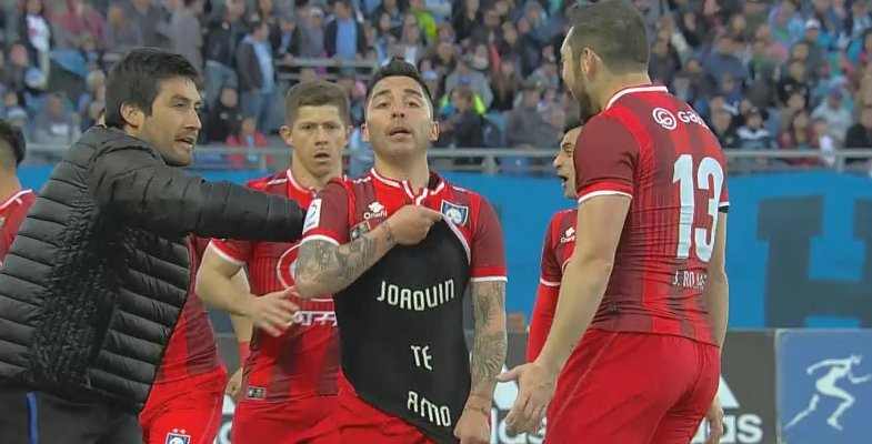 "TNT Sports Chile on Twitter: ""[VIDEO] 🎥 ""Joaquín, te amo"": la emotiva  dedicatoria de César Valenzuela tras anotar un gol por @Huachipato  https://t.co/HSr1C9srra… https://t.co/T5Xy9zMi2M"""
