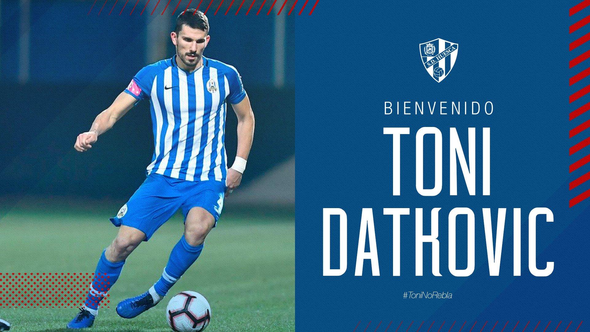 Daktovic, central internacional por Croacia, ha sido el último en anunciarse | Twitter oficial de la SD Huesca