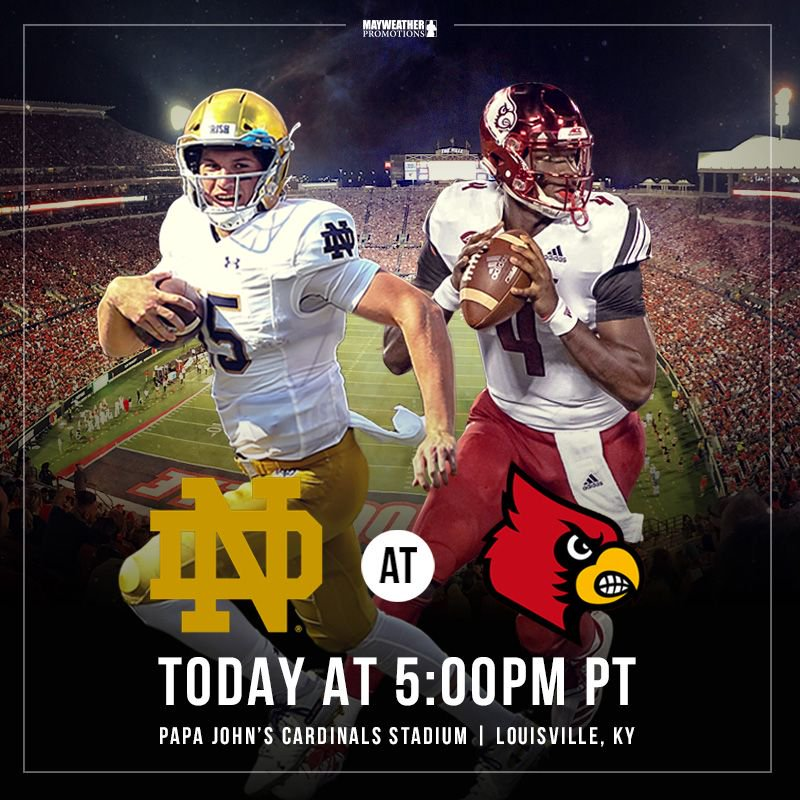 test Twitter Media - . @NDFootball takes on @GoCards for their first game of the season Notre Dame's freshman RB recruit, @Kyrensiren, looks to make his debut for the fighting Irish after ND finished 12-1 last year 👊🏈 #MatchupMonday https://t.co/2yRGc20HFw