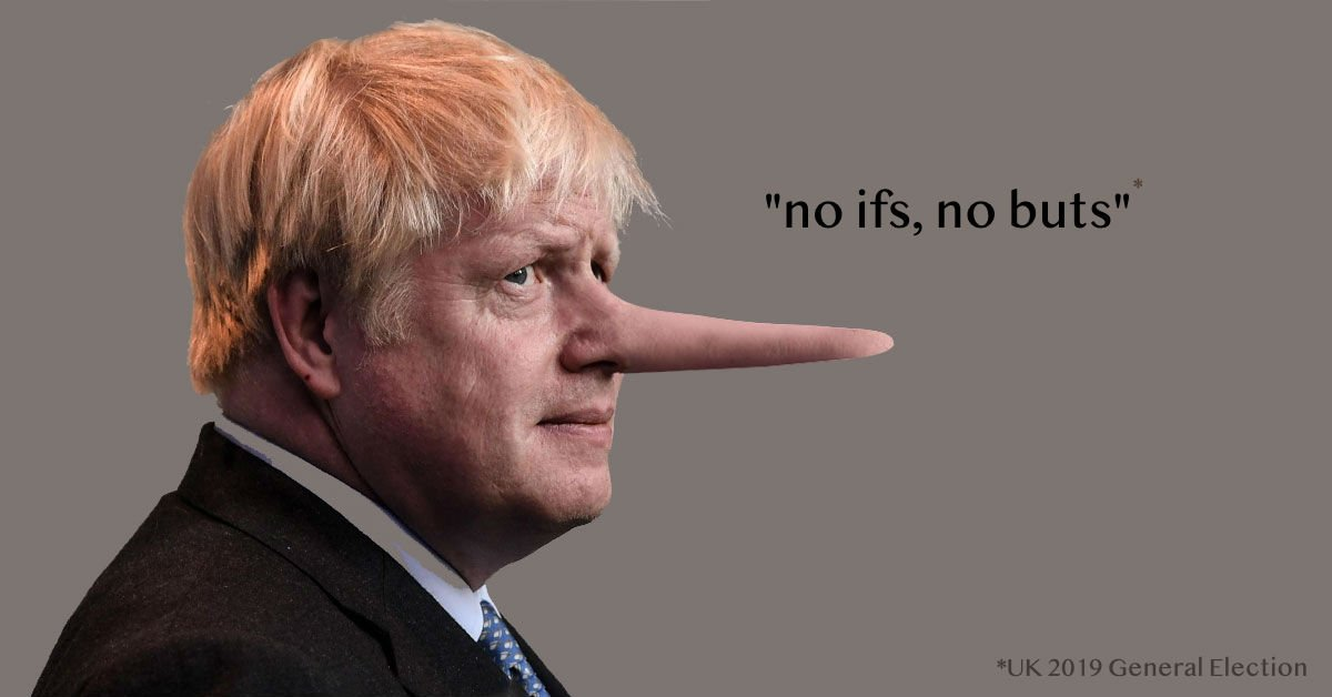 boris johnson lies meme