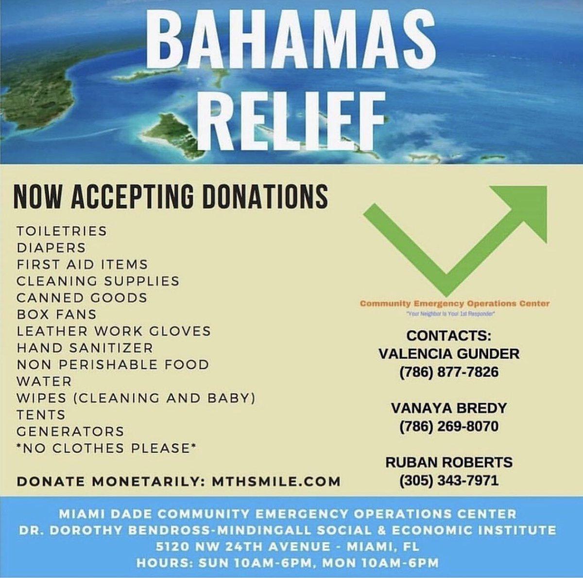 #TakeAction #Bahamas #HurricaneDorain https://t.co/NkiRFzFVY9