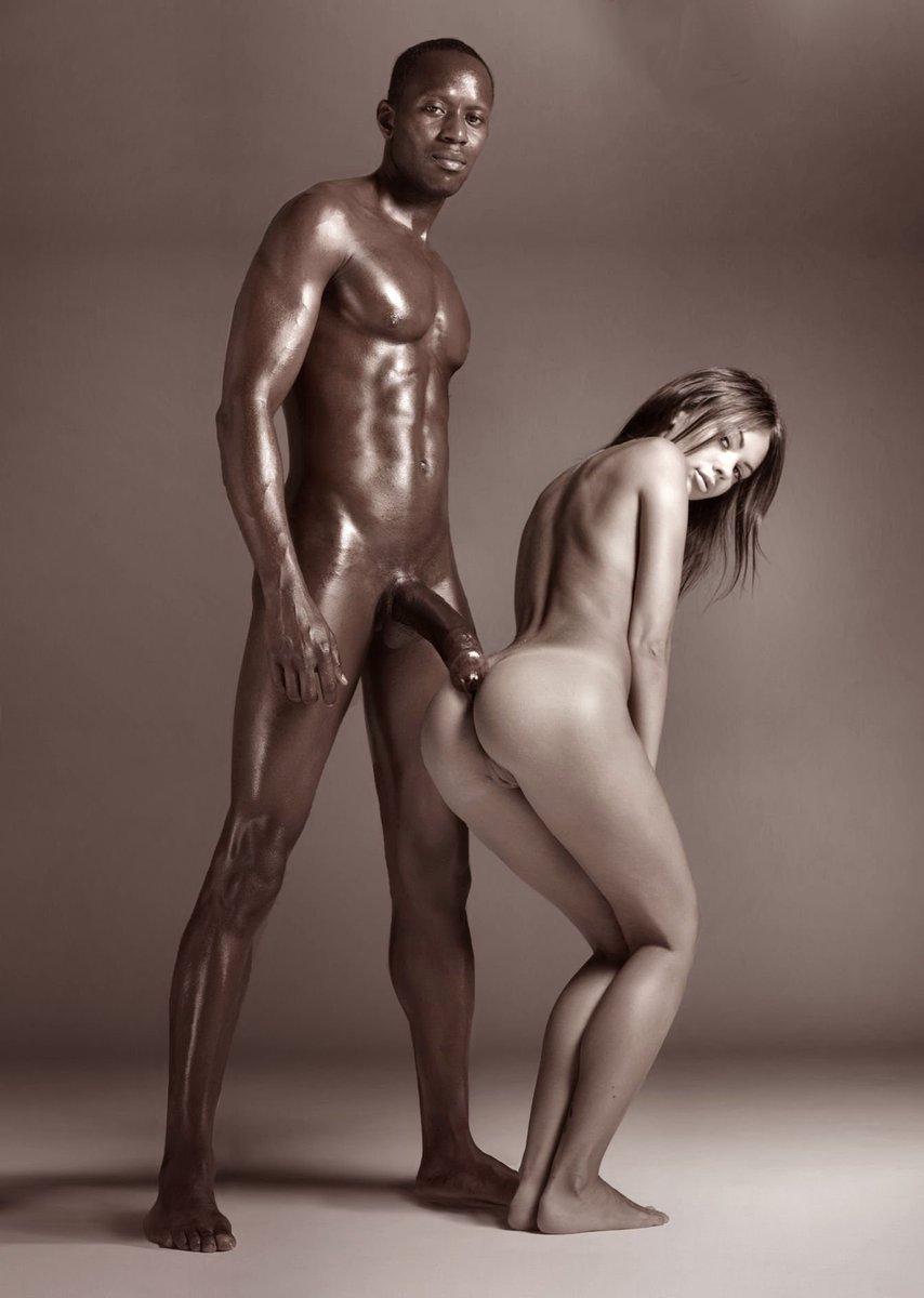 Girls toppless sexart black men white women models