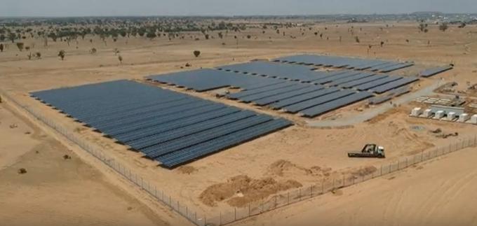 off-grid solar hybrid power plant