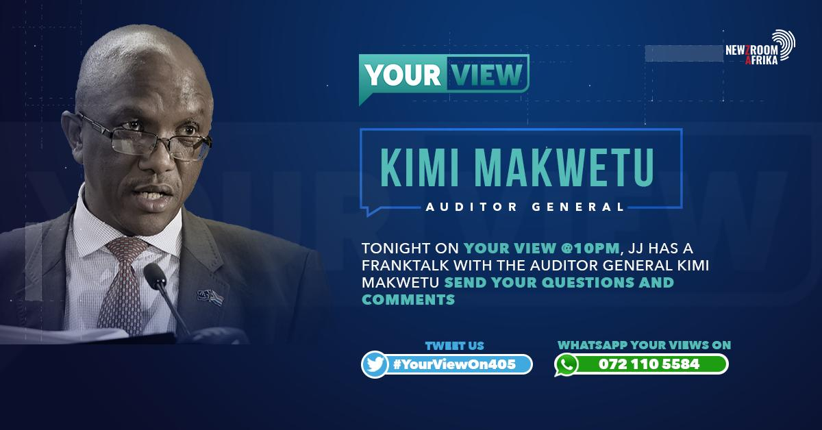 Tonight on #YourView at 10pm, @JJTabane has a Franktalk with the Auditor General Kimi Makwetu.  Send your Questions and Comments #YourViewOn405 #Newzroom405 #Newzroomafrika