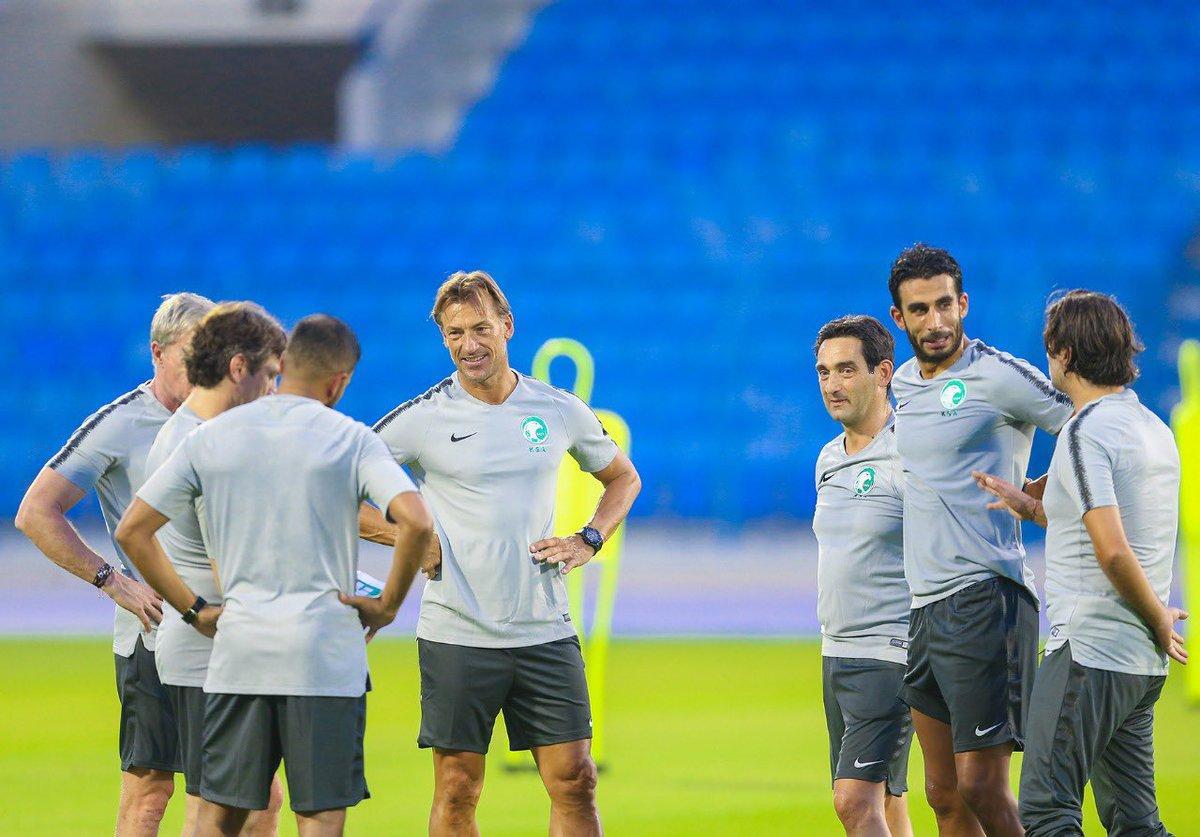 First training New challenge @saudiFF @SaudiNT_EN