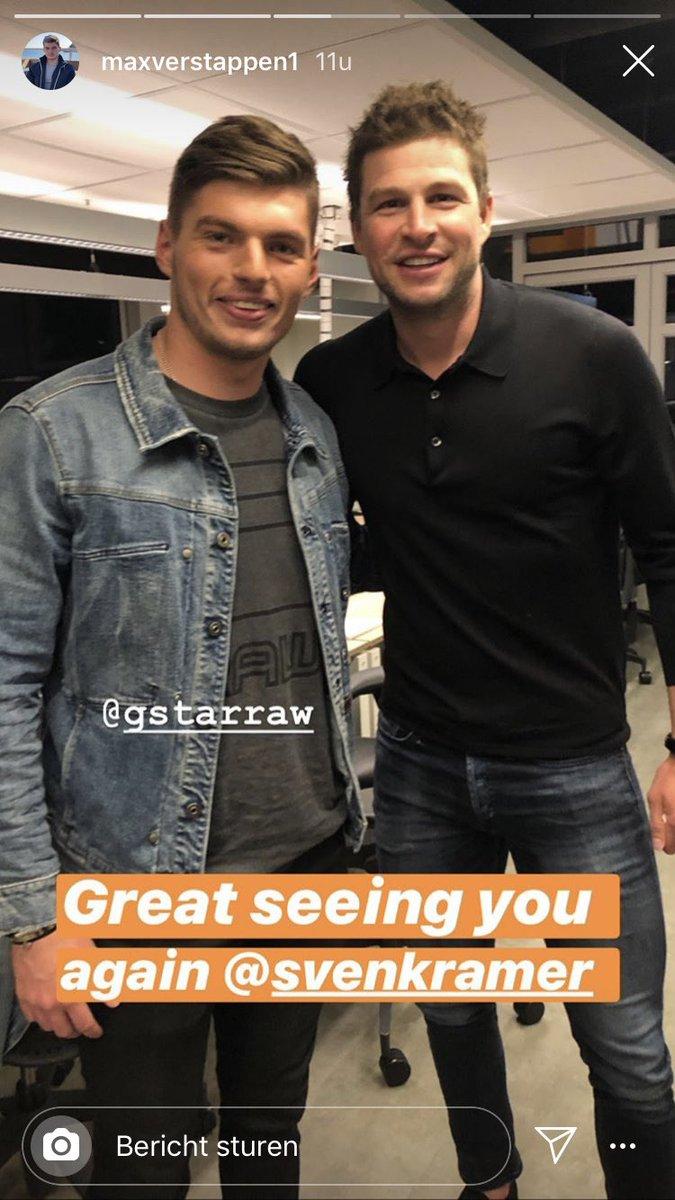 Goeiemorgen Fans! 😀  Max Verstappen met Sven Kramer en Ruud Gullit. @Peptalk   #MaxVerstappen #SvenKramer #RuudGullit #F1 #Schaatsen #Voetbal #Ziggo #Peptalk #MightyMax
