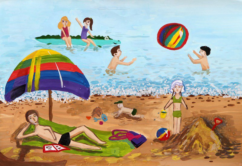 Летние каникулы рисунок