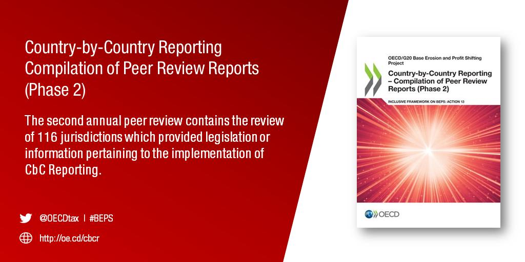 Oecd Tax On Twitter Oecd Peer Reviews On Beps Action 13 Country By Country Reporting Initiative Shows Big Progress Learn More Https T Co Krqajwk7vf Cbcr Https T Co Bxkg1gpnk5