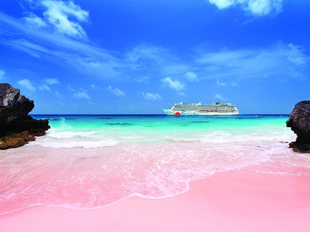 фото багамы розовый пляж часто бывает звездами
