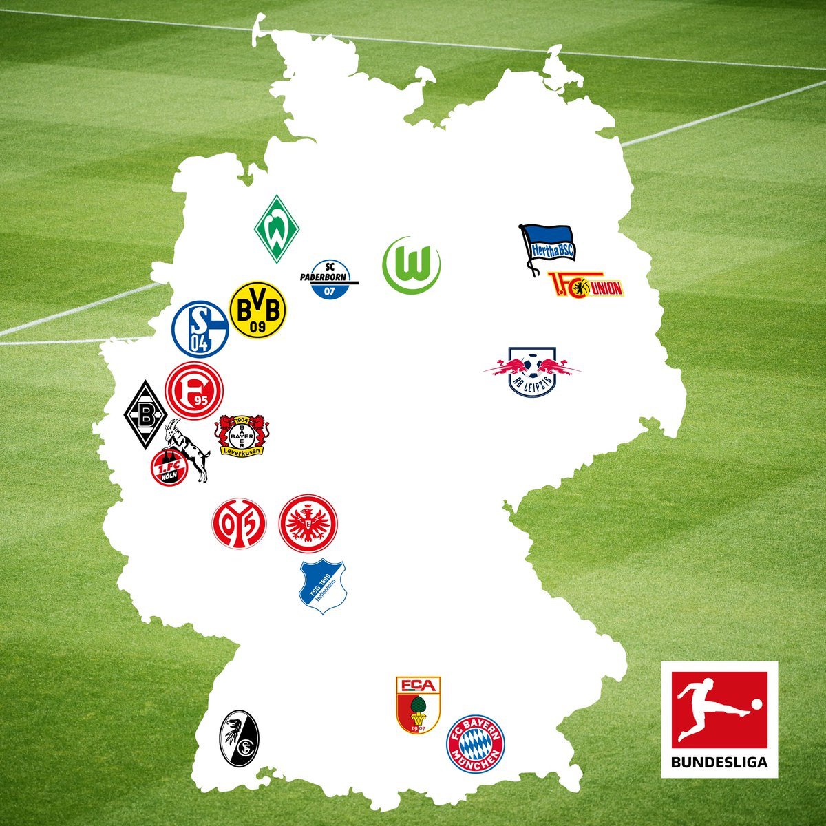 Uzivatel Get German Football News Na Twitteru Feature Putting Bundesliga Teams On The Map Which Team Has To Travel The Furthest Throughout The Season Https T Co Emut2rddka Https T Co 5iurgc72hk
