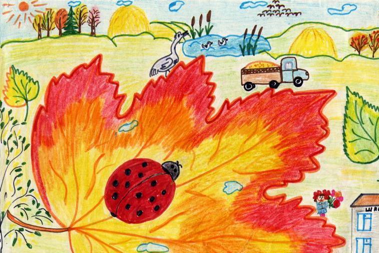 Нарисовать картинку осень на 2 кл, открытки