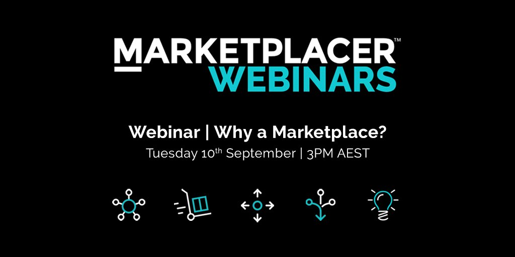 MARKETPLACER WEBINARS | Want to learn more about what's driving businesses to create marketplaces? Join us for a free webinar on Sept 10th at 3PM AEST➡️https://t.co/Te0DwaArp0 #webinar #marketplaces #ecommerce #dropship #unifiedcommerce https://t.co/piyVM8jHB5