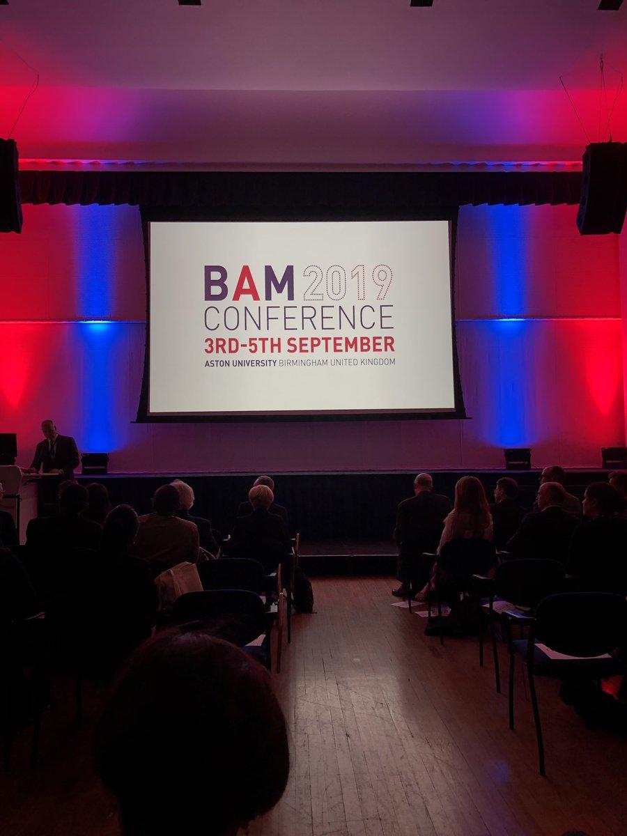 Opening address at the impressive Great Hall, Aston University #BAM2019 @bam_ac_uk