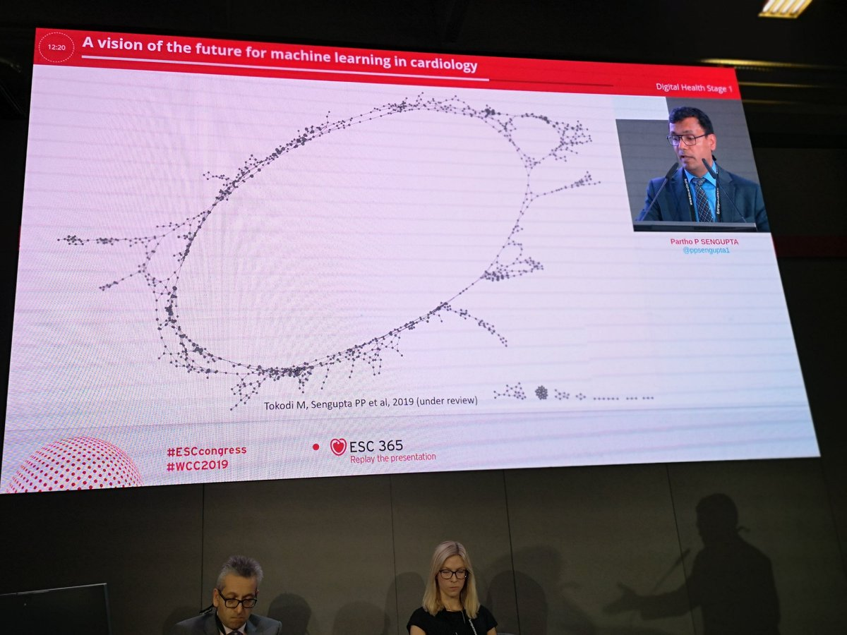 'Heart failure is a continuum of a disease' @ppsengupta1 at #ESCCongress #DigitalHealth #ML #AI