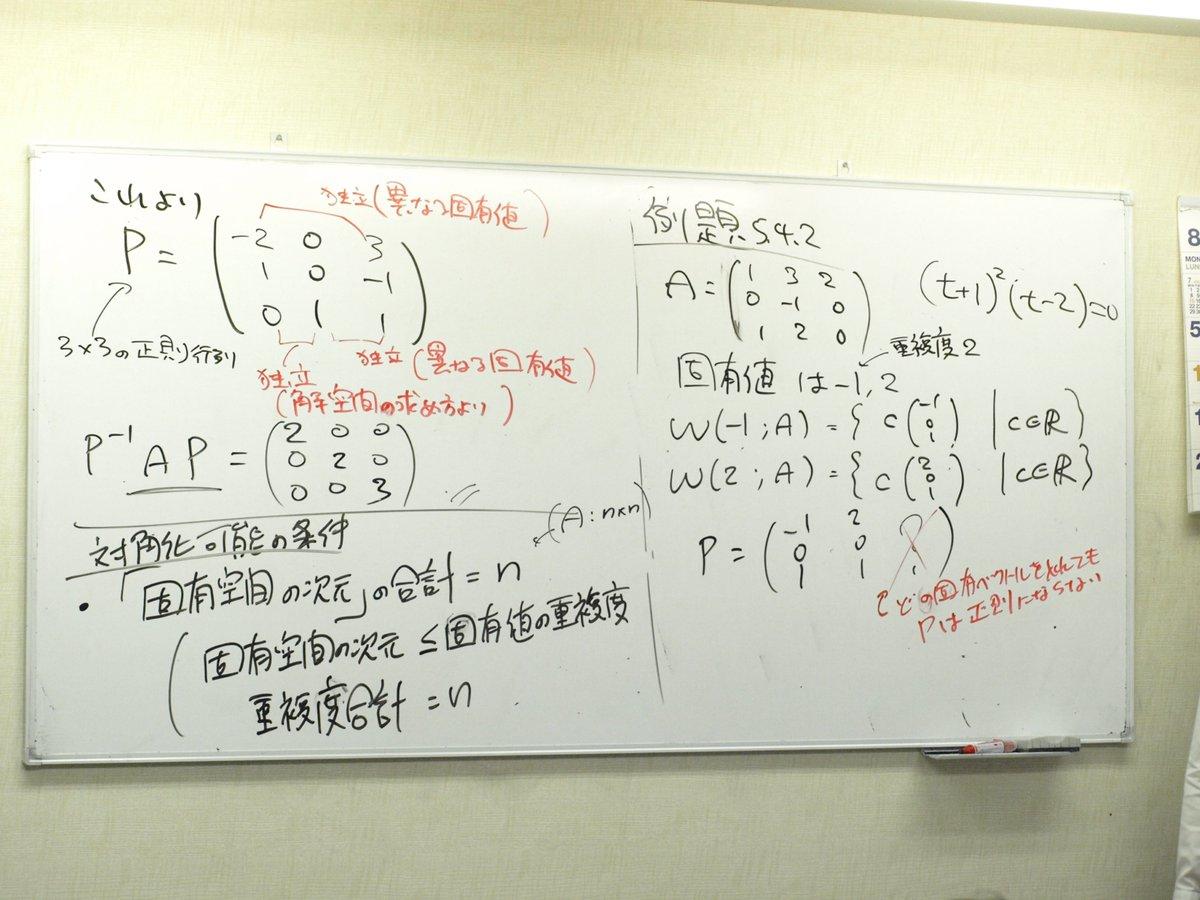 """すうがくぶんか on Twitter: """"線形代数入門講座では固有値と ..."""