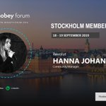 Image for the Tweet beginning: Meet the speaker, Hanna Johansson