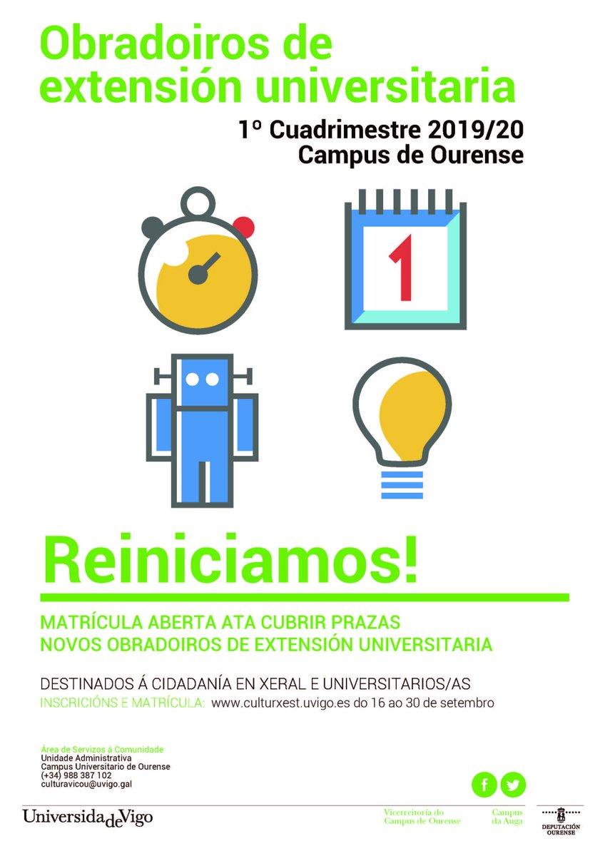 Achegamos información sobre os Obradoiros de Extensión Universitaria do Campus de Ourense, dirixidos a todos os que estean interesados nas súas temáticas. Facendo Senda, participará no taller de COMUNICACIÓN E CREACIÓN DE MARCA.