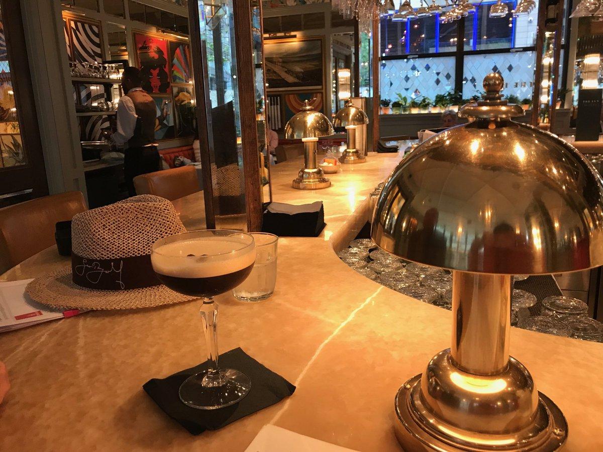 Celebratory drinks for @BabyBoycs birthday at The Ivy... it's a Salted Caramel Espresso Martini for me! @RachaelBoycott @jefferskendrick