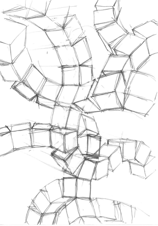 Twoucan 立方体のジャングルジム の注目ツイートイラスト