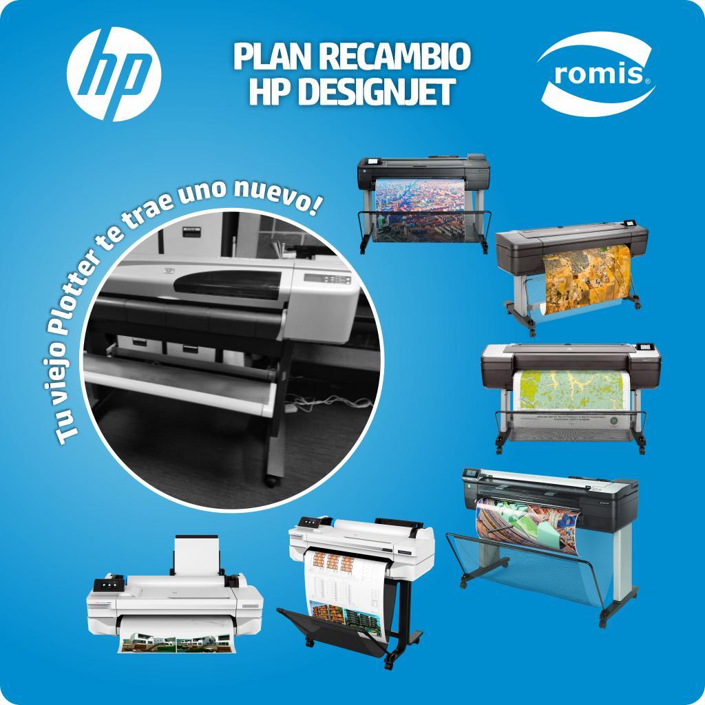 Sabemos cuanto adoras tu vieja DesignJet pero ya es hora de darle un descanso. HP DesignJet y Romis te ofrecen la oportunidad de tomar tu viejo equipo HP como parte de pago por una nueva unidad. ¡No dejes pasar esta oportunidad!.