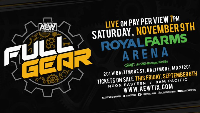 AEW Full Gear Ticket Details Revealed