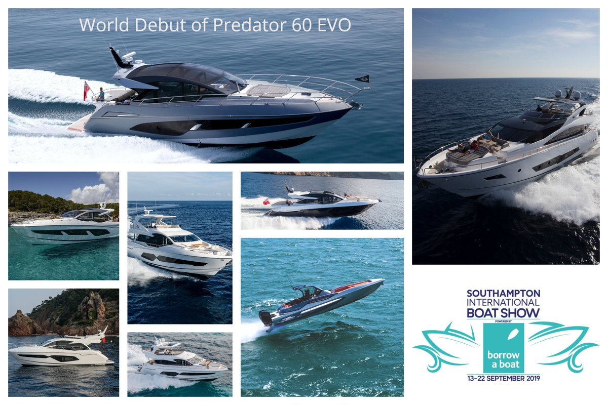Only 10 days to go until the Southampton International Boat Show! Join us from the 13th-22nd of September to view the world launch of the Predator 60 EVO and the UK show debut of the truly remarkable Hawk 38. See you there! #SIBSBAB19 #SunseekerOnShow