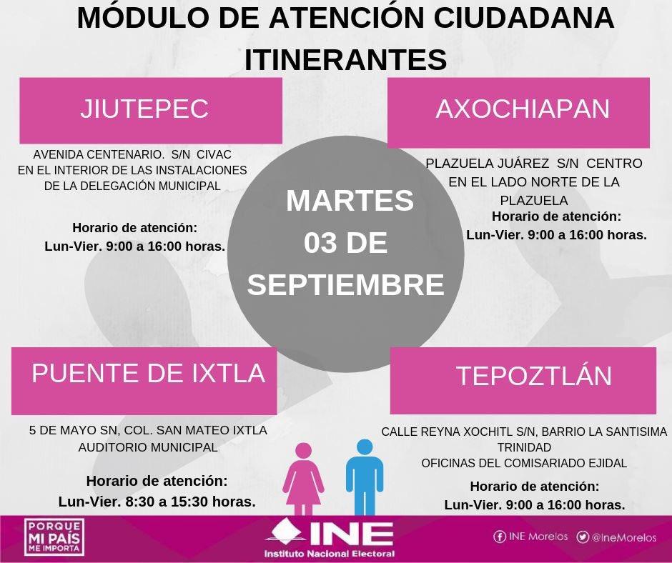 Ine Morelos On Twitter Aprovecha El Módulo Itinerante De