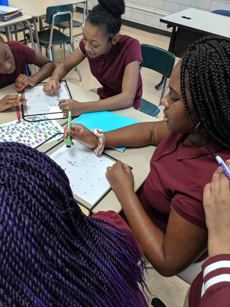 Working on group work routines. Do math every day. @WoodlawnMS #WeAreWoodlawn #WeAreRising