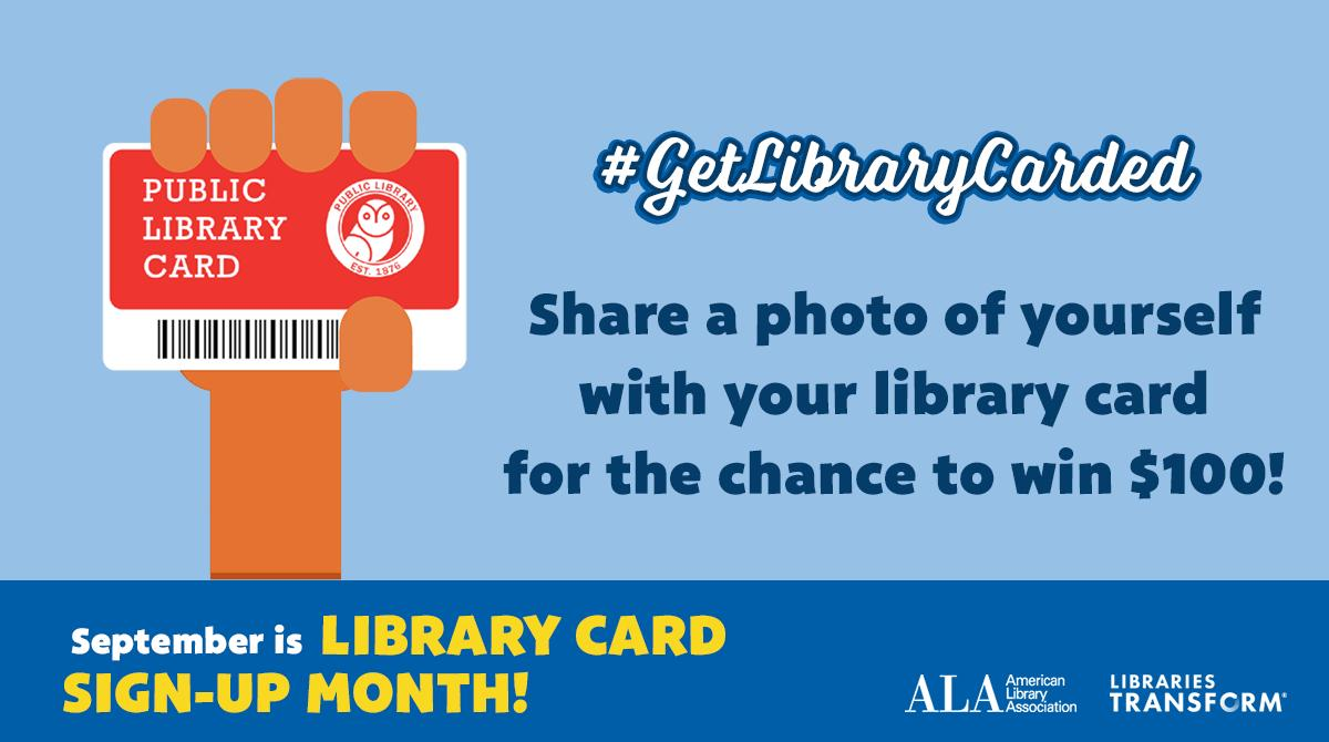 Get excited, its Library Card Month! bit.ly/LibraryCardSig… Post your library card photo.