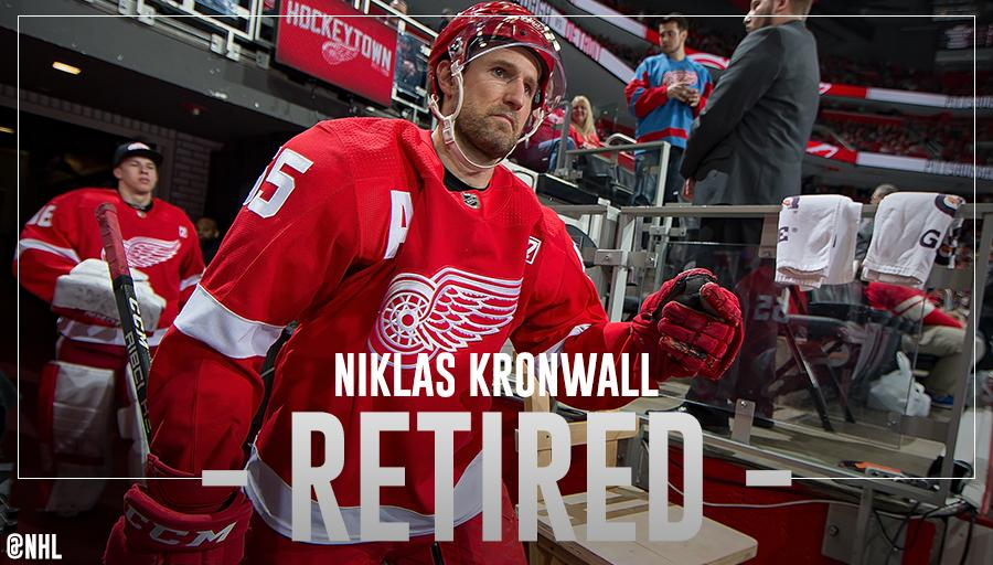 After 15 seasons with the @DetroitRedWings, Niklas Kronwall has announced his retirement.   MORE: