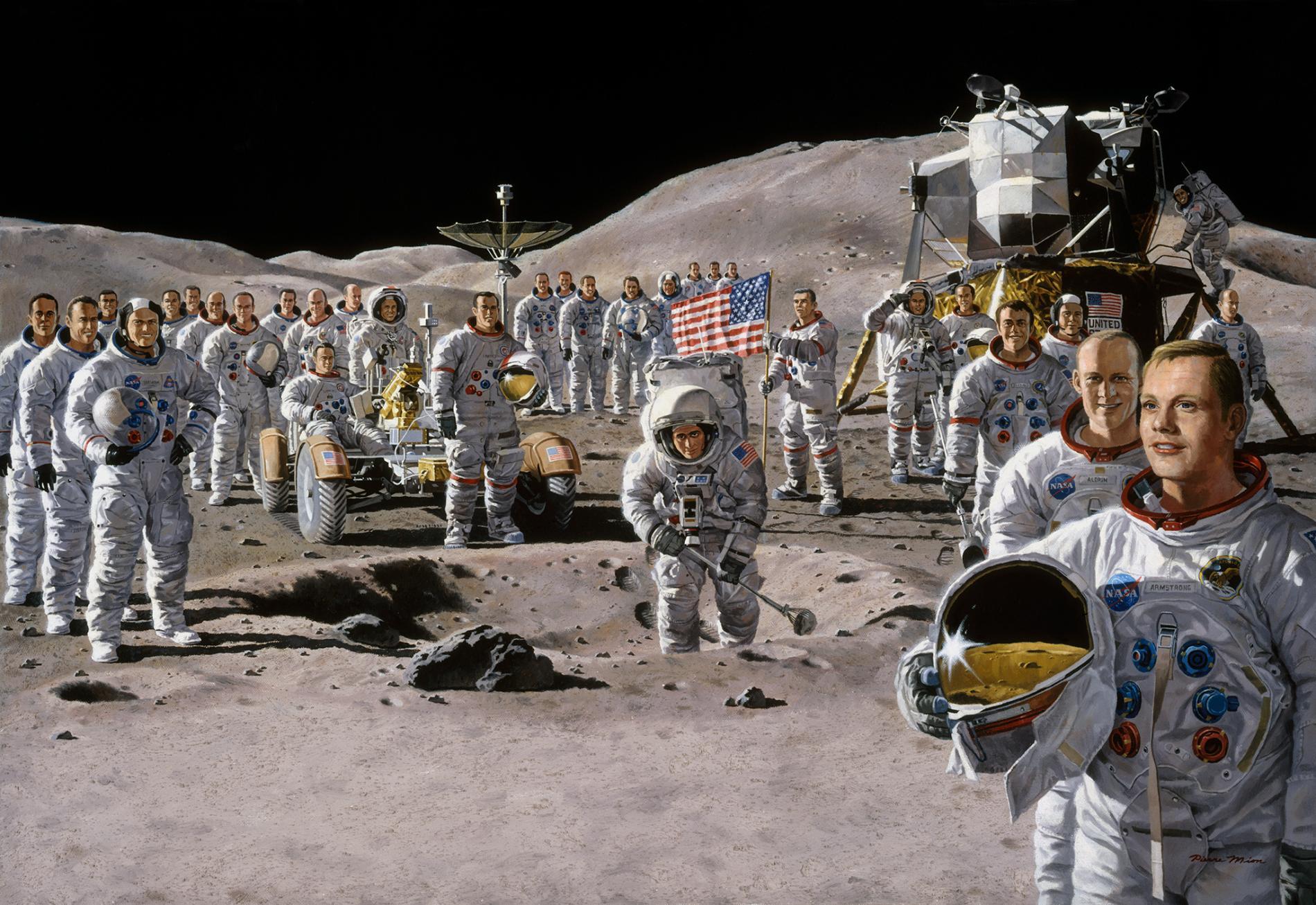 такие фотографии астронавтов побывавших на луне только