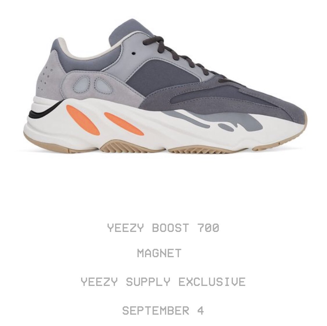 Yeezy Boost 700 'Magnet' could possibly