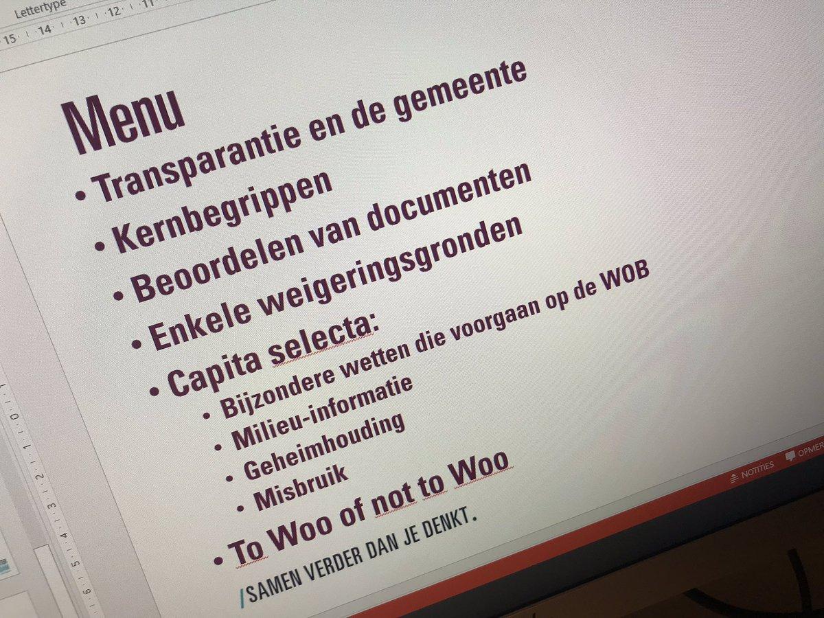 test Twitter Media - Volgende week weer een WOB training, nu in Roosendaal (en in Dordrecht inhouse). Er is nog plek. Te ver weg maar wel interesse, vraag naar de mogelijkheden via wob@thna@nl https://t.co/zHSxUcTHyD