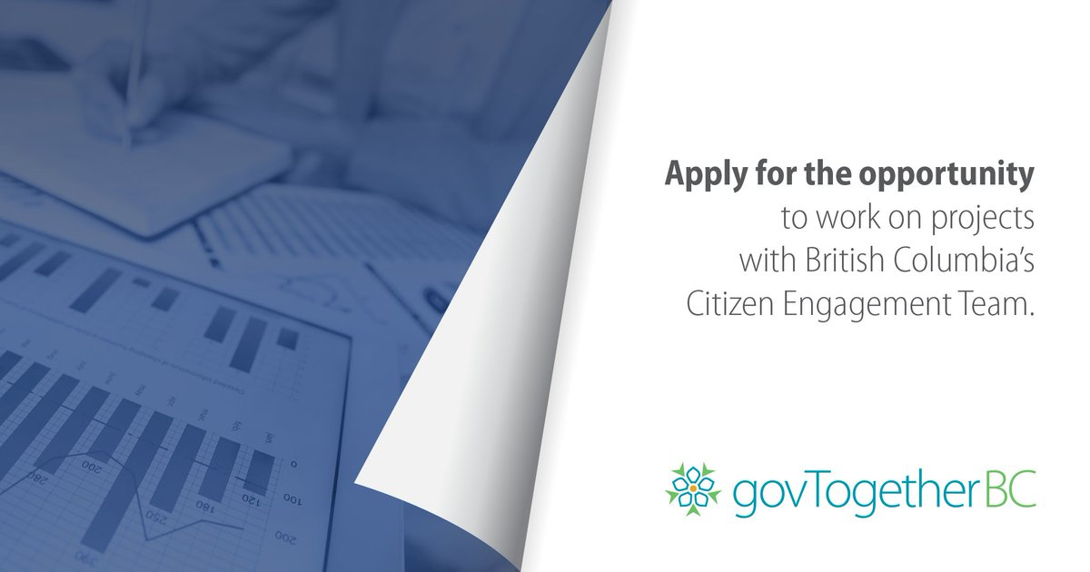 Govtogetherbc On Twitter Visit The Bc Bid Website To Apply Until Sept 4 For The Opportunity To Work On Projects With The Province S Citizen Engagement Team Ten Different Service Areas Are Open