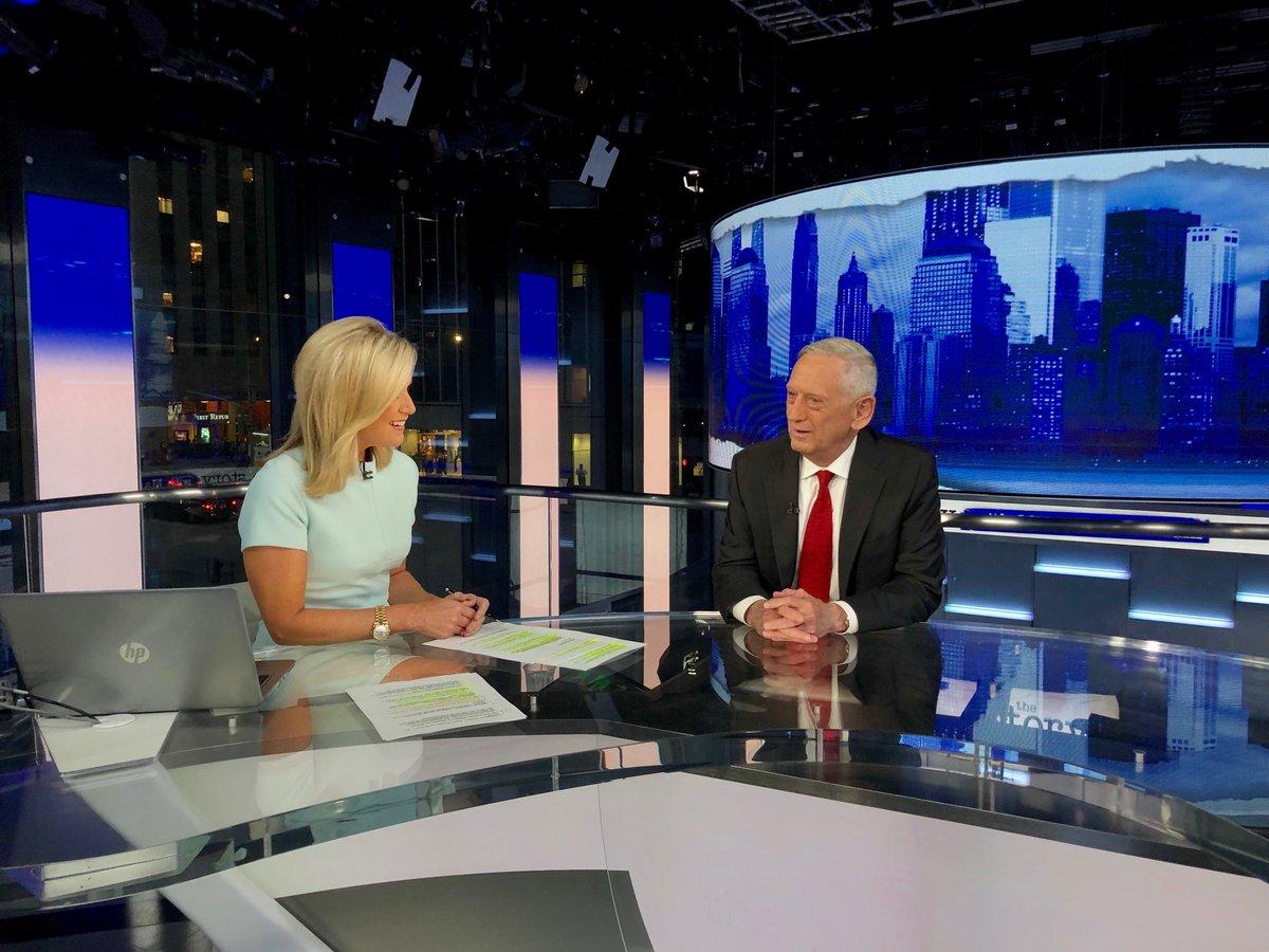 HAPPENING NOW: Former Defense Secretary General James Mattis on @TheStoryFNC @FoxNews